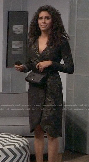 Jordan's black and gold NYE dress on General Hospital
