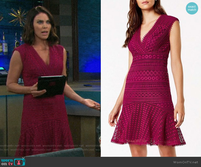 Lace Peplum Dress by Karen Millen worn by Chloe Lane (Nadia Bjorlin) on Days of our Lives