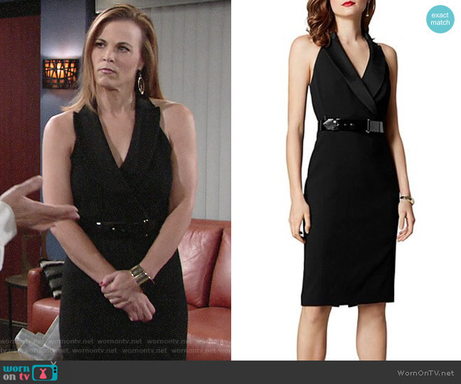 Karen Millen Halter Tuxedo Dress worn by Phyllis Newman (Gina Tognoni) on The Young & the Restless