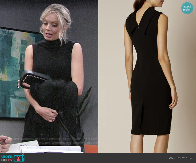 Karen Millen High Neck Pencil Dress worn by Abby Newman (Melissa Ordway) on The Young & the Restless