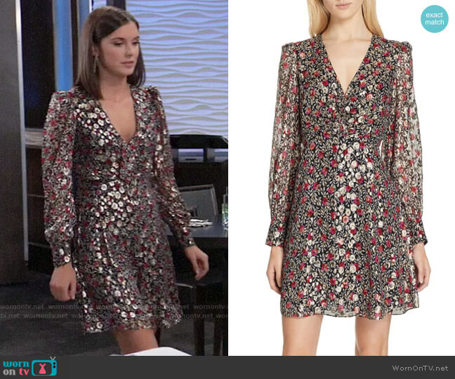 Kate Spade Floral Park Clip Dot Dress worn by Willow Tait (Katelyn MacMullen) on General Hospital