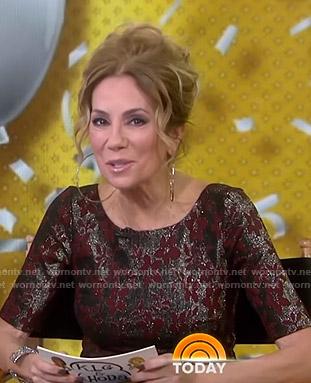 Kathie's metallic floral dress on Today