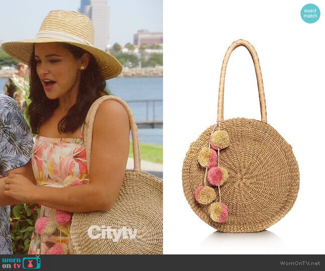 Kayu Serena Round Tote worn by Amy Santiago (Melissa Fumero) on Brooklyn Nine-Nine
