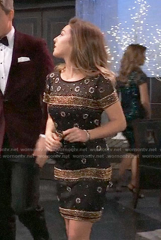 Kristina's embellished NYE dress on General Hospital