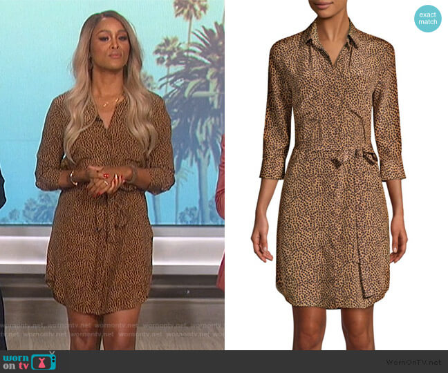 Silk Stella Cheetah Shirtdress by L'Agence worn by Eve (Eve) on The Talk