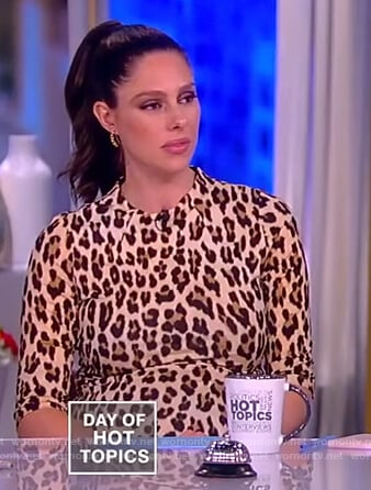 Abby's leopard print bodycon dress on The View