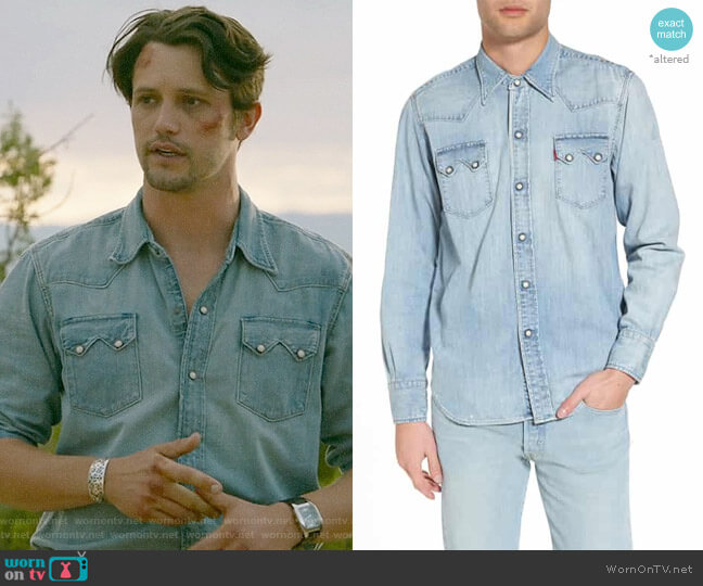 Levis 1955 Sawtooth Western Shirt worn by Max Evans (Nathan Parsons) on Roswell New Mexico