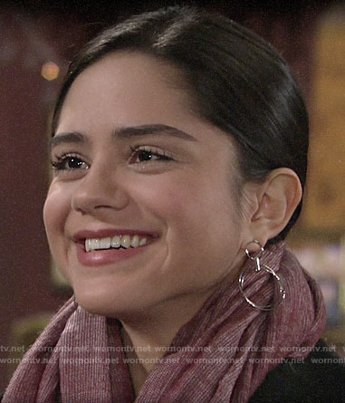 Lola's silver hoop earrings on The Young and the Restless
