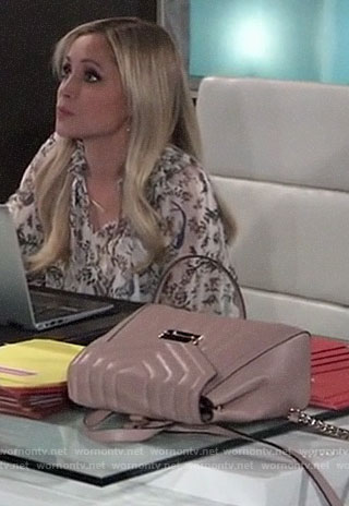 Lulu's pink quilted backpack on General Hospital