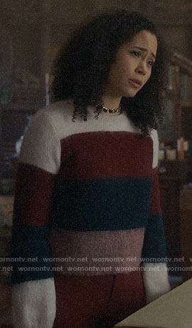Macy's striped sweater on Charmed