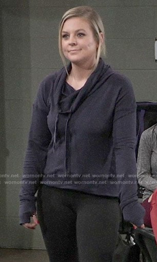 Maxie's navy sweatshirt on General Hospital