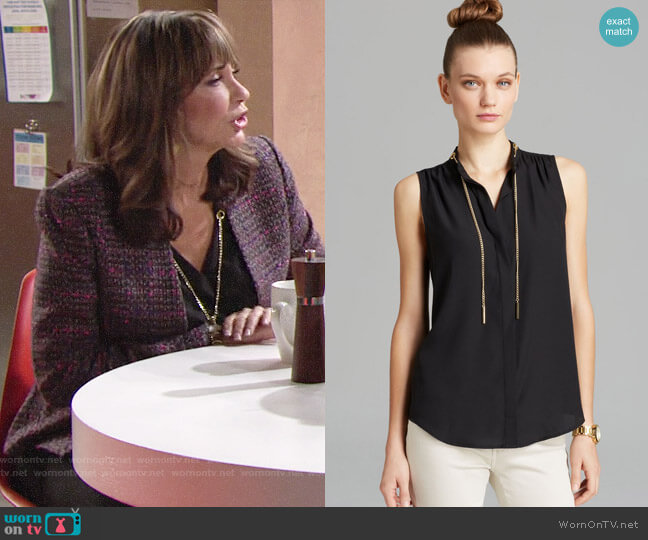 MICHAEL Michael Kors Chain Neck Blouse worn by Jill on The Young and the Restless worn by Jill Abbott (Jess Walton) on The Young & the Restless