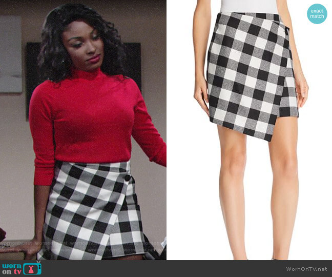 Milly Buffalo Check Wrap Skirt worn by Ana Hamilton (Loren Lott) on The Young & the Restless