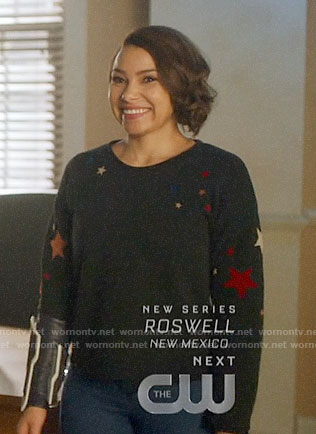Nora's star print sweatshirt on The Flash