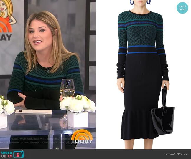 Novelty Rib Knit Dress by Opening Ceremony worn by Jenna Bush Hager  on Today
