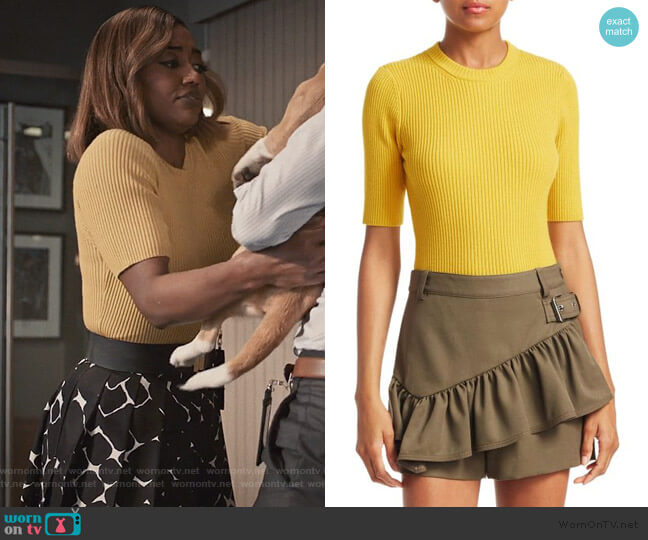 Rib Knit Short Sleeve Sweater by Phillip Lim 3.1 worn by Daisy Grant (Patina Miller) on Madam Secretary
