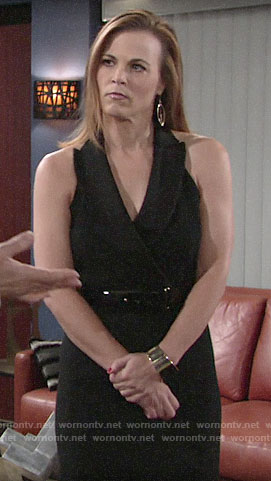 Phyllis's black halter neck blazer dress on The Young and the Restless