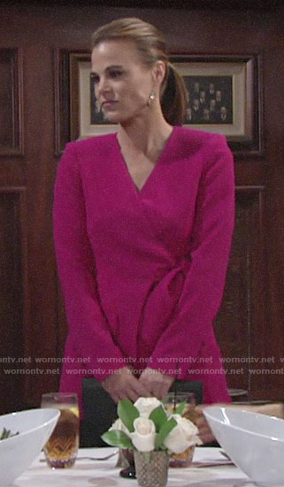 Phyllis's pink wrap jacket on The Young and the Restless
