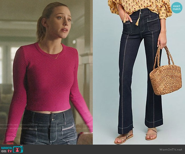Anthropologie Pilcro High-Rise Flare Jeans worn by Betty Cooper (Lili Reinhart) on Riverdale