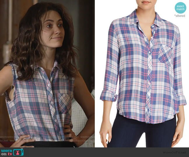 Hunter Plaid Shirt in Watermelon by Rails worn by Fiona Gallagher (Emmy Rossum) on Shameless