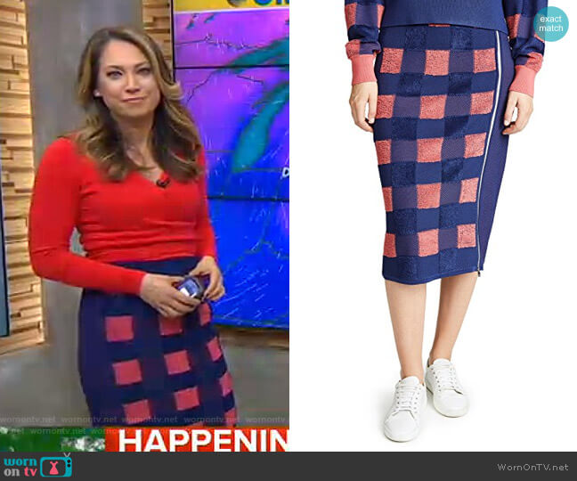 Ridley Skirt by Rag & Bone worn by Ginger Zee  on Good Morning America