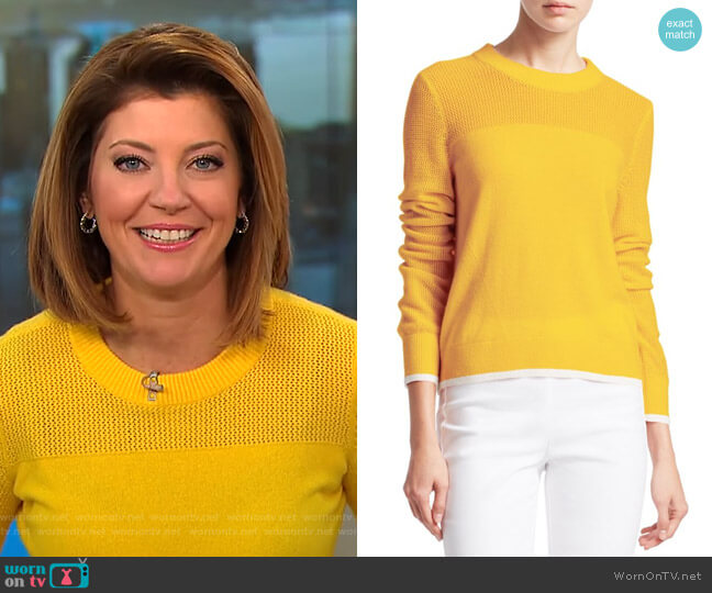 Yorke Sweater by Rag & Bone worn by Norah O'Donnell on CBS This Morning