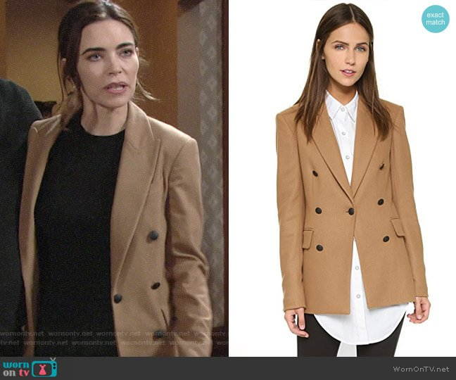 Rag & Bone Corin Blazer worn by Victoria Newman (Amelia Heinle) on The Young & the Restless