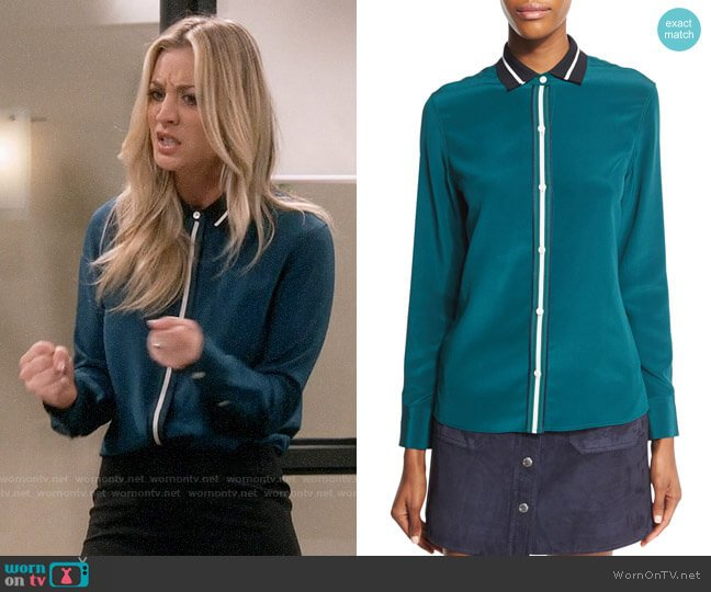 Rag & Bone Nico Shirt worn by Penny Hofstadter (Kaley Cuoco) on The Big Bang Theory