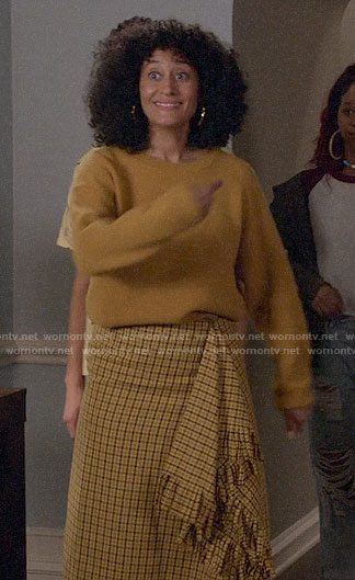 Bo's yellow plaid ruffled skirt on Black-ish