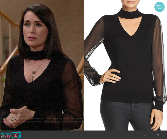 Ramy Brook Ashley Choker Sweater worn by Quinn Fuller (Rena Sofer) on The Bold & the Beautiful
