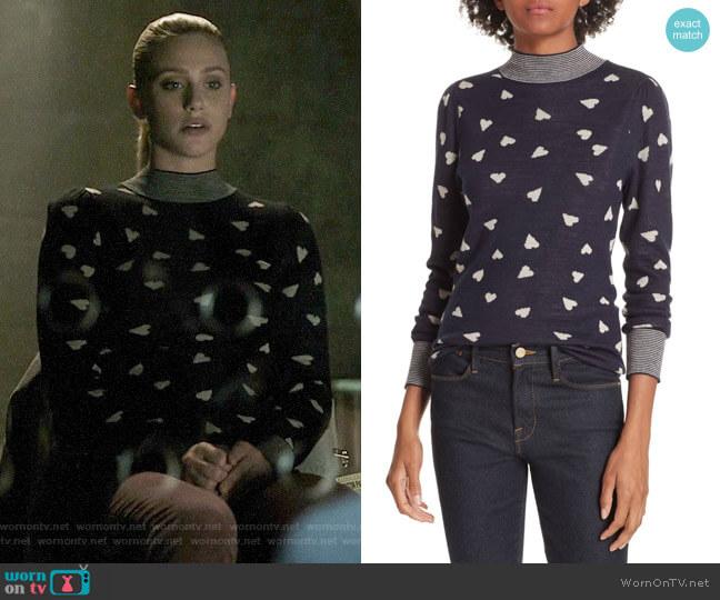 Rebecca Taylor Heart Jacquard Sweater worn by Betty Cooper (Lili Reinhart) on Riverdale