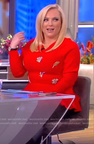 Meghan's red embellished sweater on The View