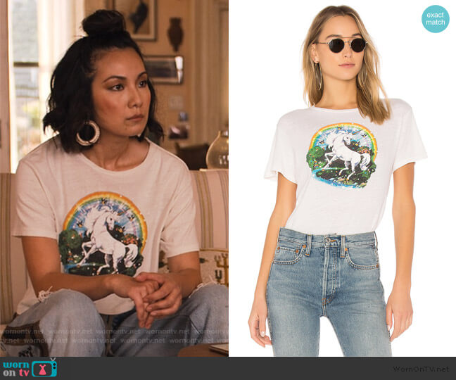 Originals Unicorn Dream Tee by re/done worn by Marianne (Jae Suh Park) on Friends from College