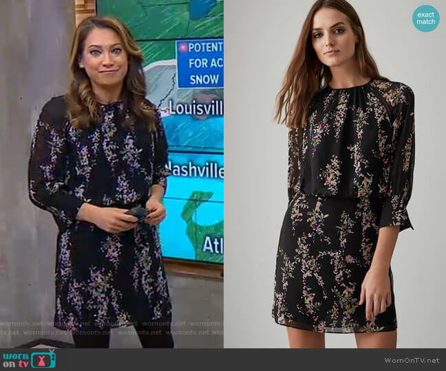 Roma Dress by Reiss worn by Ginger Zee on Good Morning America