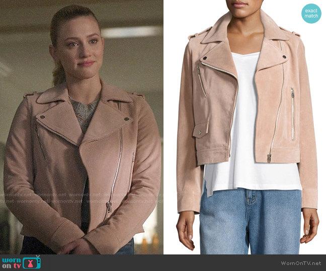 Robert Rodriguez Suede Moto Jacket worn by Betty Cooper (Lili Reinhart) on Riverdale