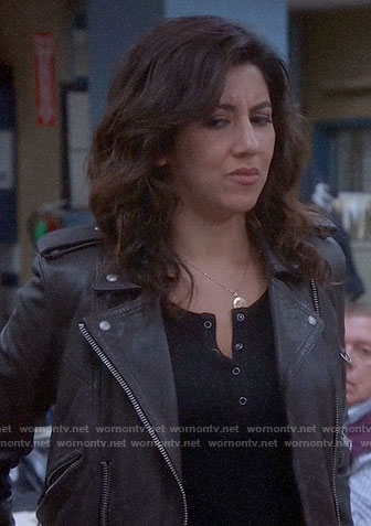 Rosa's black henley top on Brooklyn Nine-Nine