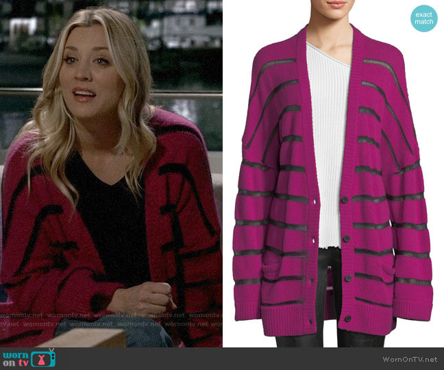 RtA Odella Cashmere Cardigan worn by Penny Hofstadter (Kaley Cuoco) on The Big Bang Theory