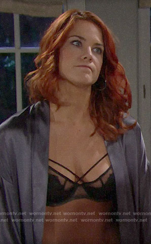 Sally's cross front bra on The Bold and the Beautiful