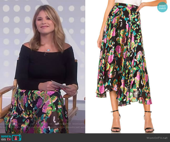 Ida Skirt by Saloni worn by Jenna Bush Hager  on Today