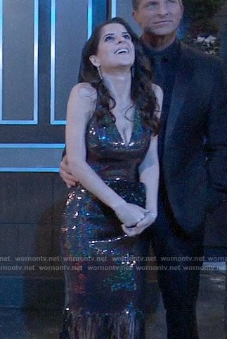 745a35d9 WornOnTV: Sam's fringed NYE dress on General Hospital | Kelly Monaco |  Clothes and Wardrobe from TV