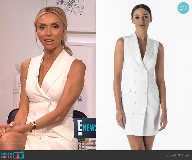 Aurora Blazer Dress by Santina Nicole worn by Giuliana Rancic on E! News
