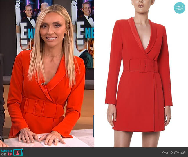 Crepe Wrap Jacket Dress by Santina Nicole worn by Giuliana Rancic  on E! News
