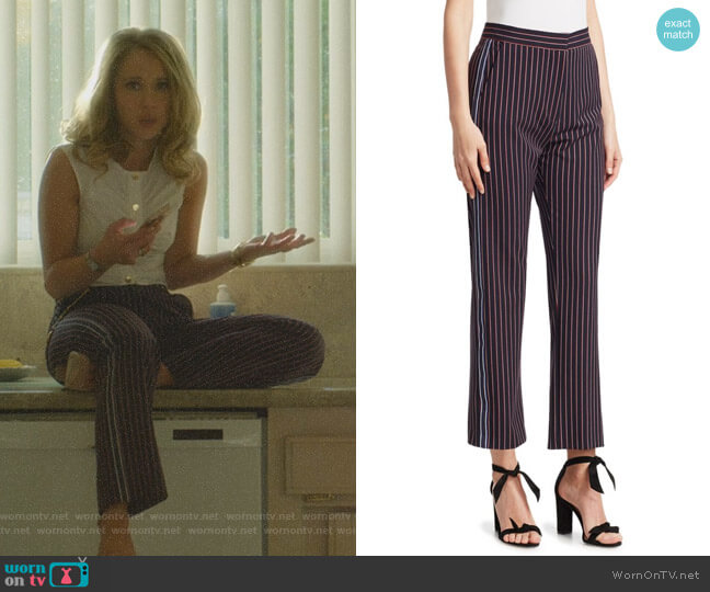 Pinstripe Trousers by See by Chloe worn by Veronica Newell (Juno Temple) on Dirty John