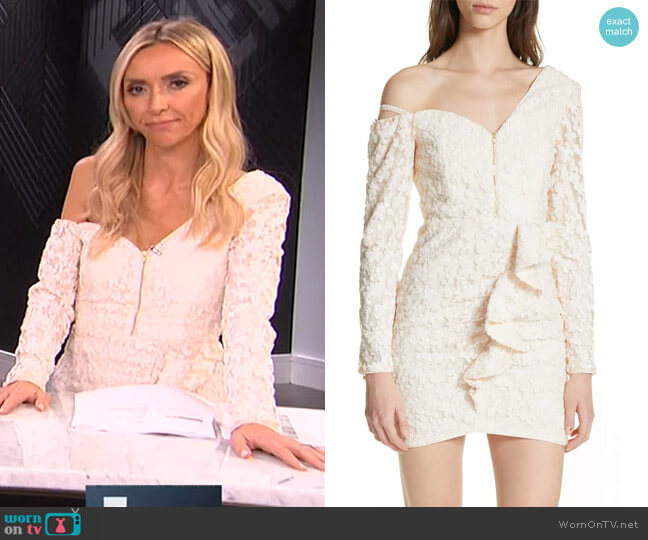 Floral Sequin One-Shoulder Minidress by Self Portrait worn by Giuliana Rancic  on E! News
