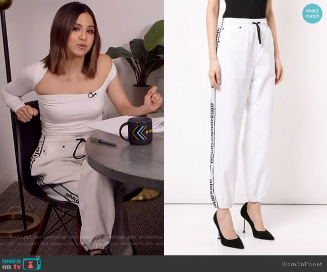 Side Panelled Track Pants by Alexander Wang worn by Erin Lim  on E! News