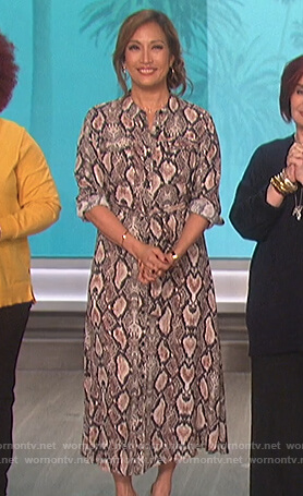 Carrie's snake skin shirtdress on The Talk