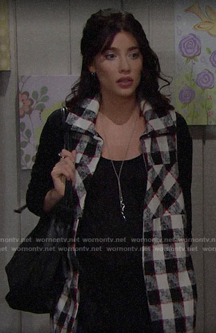 Steffy's checked vest on The Bold and the Beautiful
