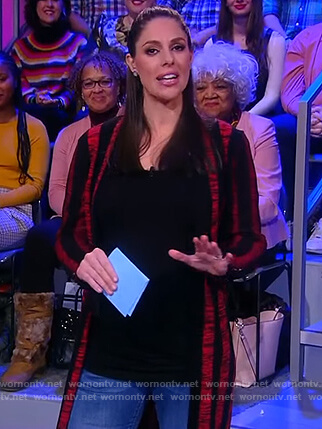 Abby's black and red striped cardigan on The View