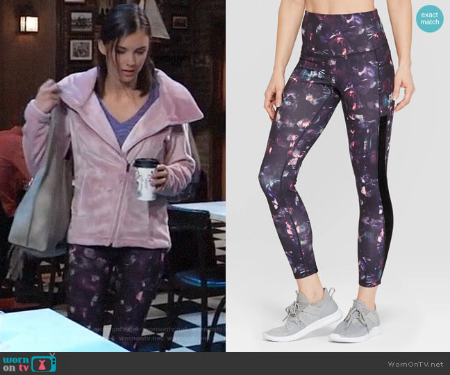 C9 Champion Studio High-Waisted Leggings worn by Willow Tait (Katelyn MacMullen) on General Hospital
