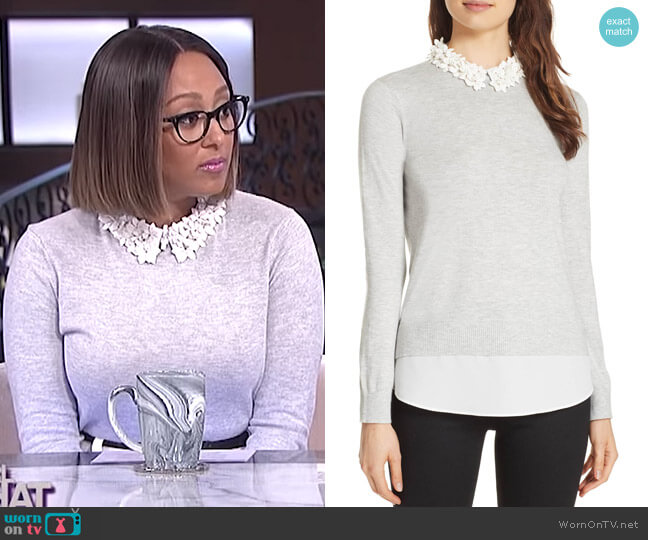 Nansea Sweater by Ted Baker worn by Tamera Mowry (Tamera Mowry) on The Real